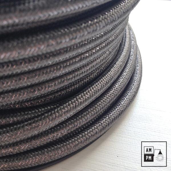 Fil électrique recouvert de tissus coloré scintillllant