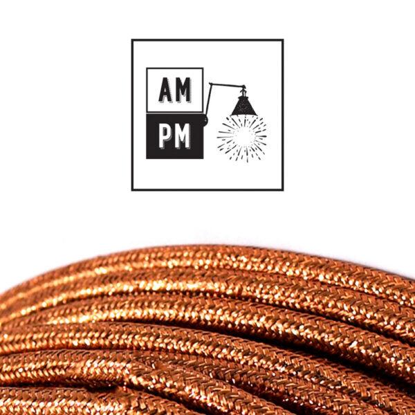 fil-electrique-recouvert-lin-colore-cuivre-brillant
