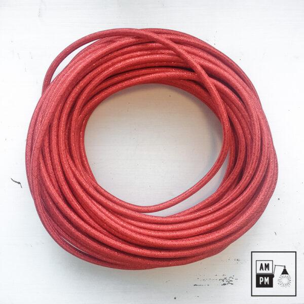 fil-electrique-recouvert-lin-colore-rouge-brillant-1
