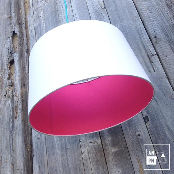 abat-jour-tissus-biseaute-blanc-rose-vif-4