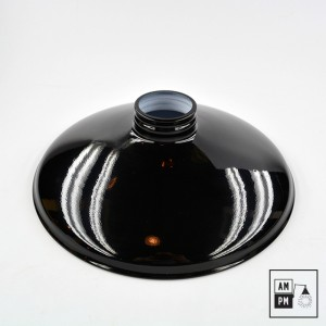 abat-jour-industriel-acier-emaillee-noir