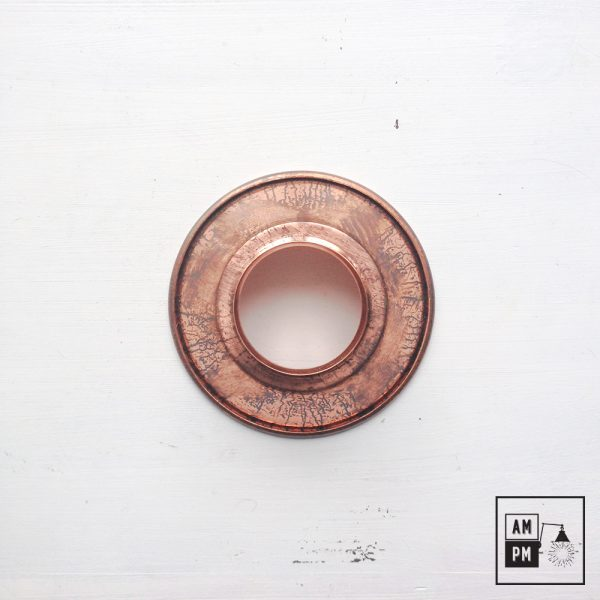 petit-abat-jour-cône-vintage-métal-biseauté-cuivre-1