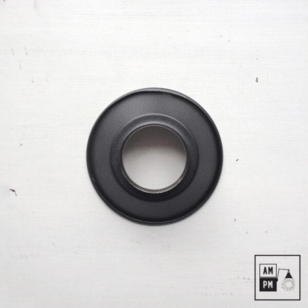 petit-abat-jour-cône-vintage-métal-biseauté-noir-texture-1