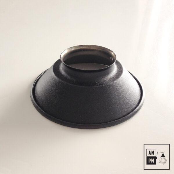 petit-abat-jour-cône-vintage-métal-biseauté-noir-texture-2