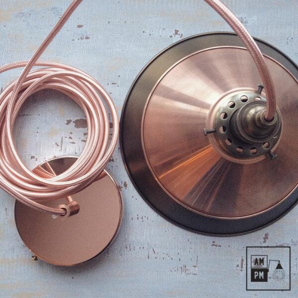 Lampe suspendue rustique en cuivre | A1S01