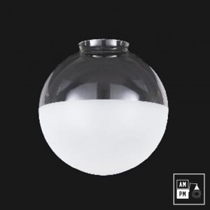 abat-jour-verre-souffle-globe-clair-givré