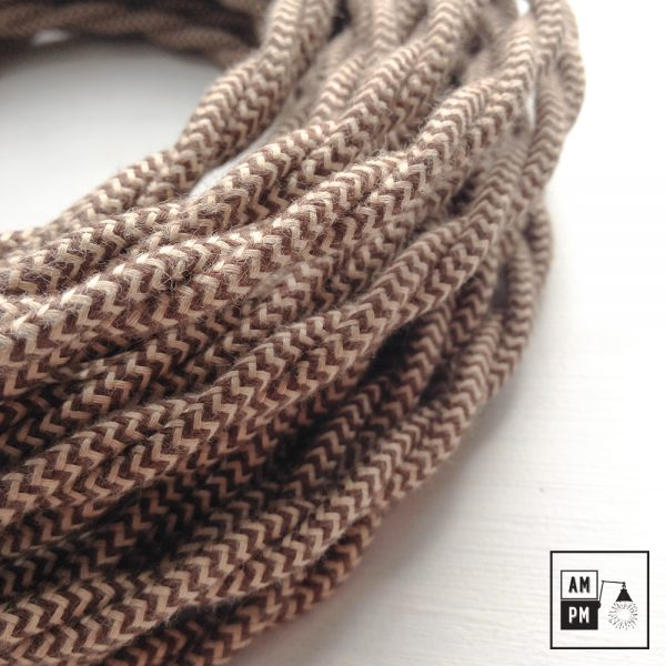 Fil électrique torsadé recouvert de coton à motifs
