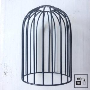 cage-oiseau-acier-noir