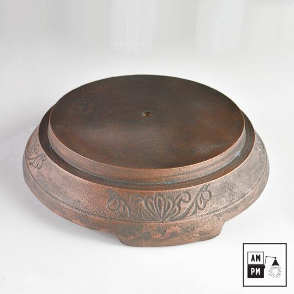 Base ronde en fonte d'acier