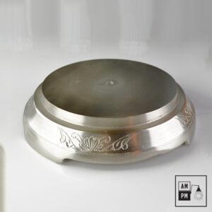 Base ronde en fonte d'aluminium