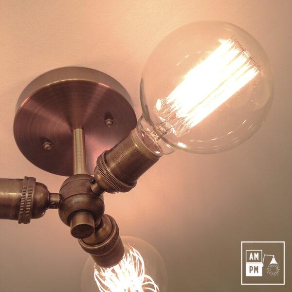 Luminaire plafonnier moderne en laiton antique
