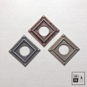 Couvert antique steampunk carré pour interrupteur