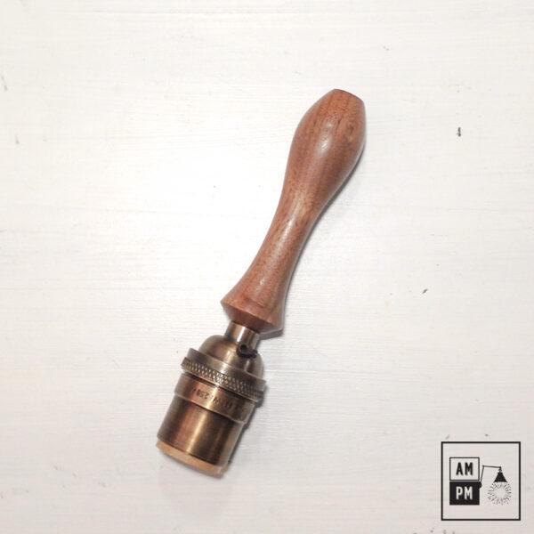 Poignée en bois pour baladeuse rustique