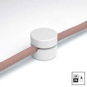 Rondelle de fixation murale pour fil recouvert de tissus