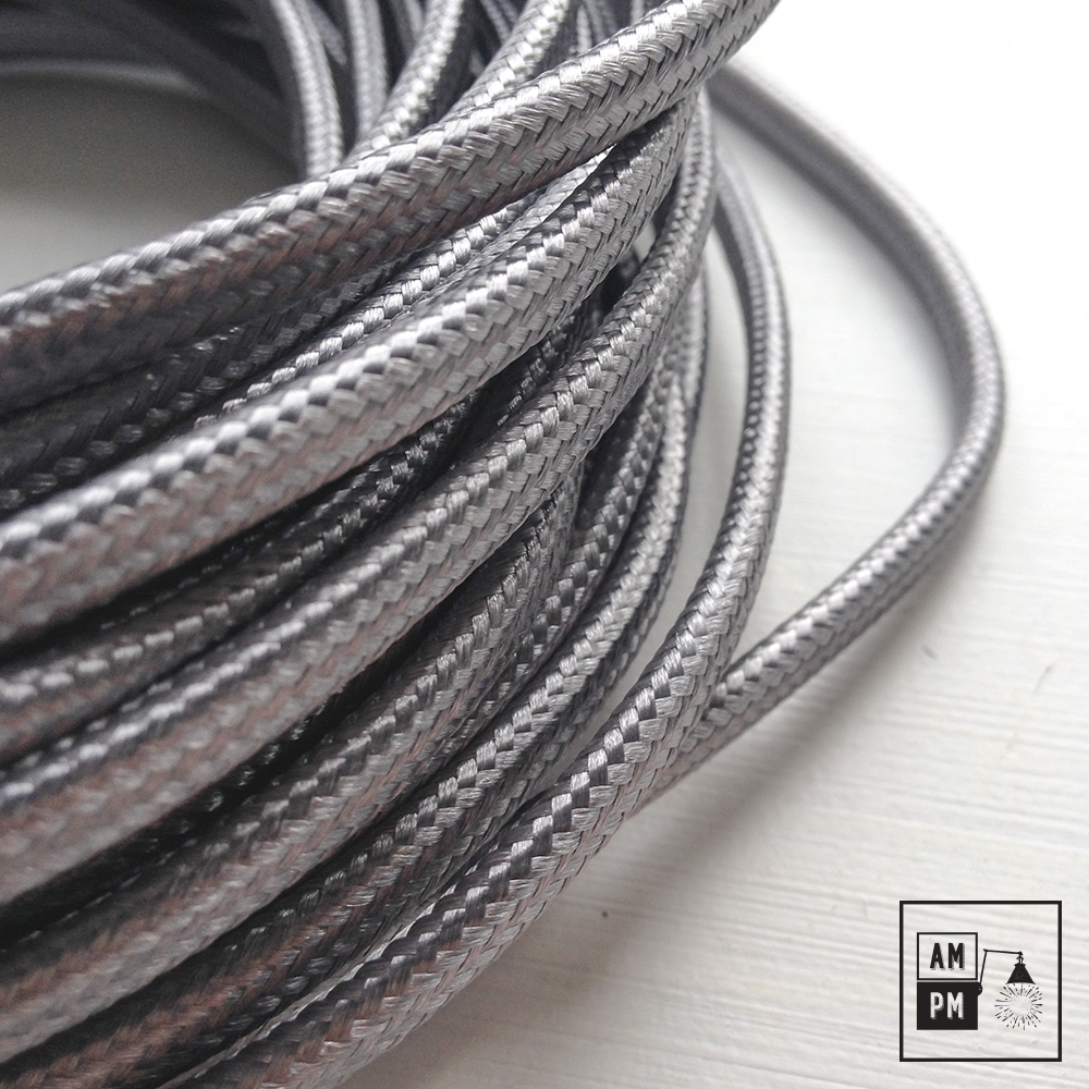 fil lectrique plat recouvert de tissus color couleurs vari es am pm. Black Bedroom Furniture Sets. Home Design Ideas