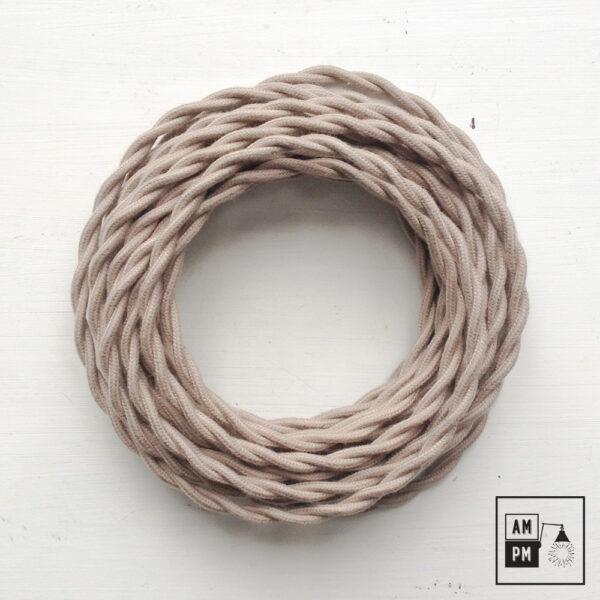 Fil électrique torsadé recouvert de coton