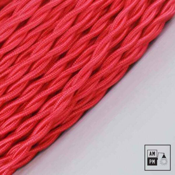 Fil électrique torsadé recouvert de rayonne colorée