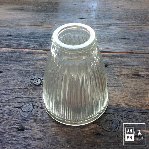abat-jour-vintage-conique-ondule-verre-clair