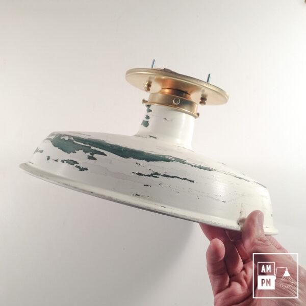 Luminaire-plafonnier-rustique-blanc-vert-A3C12