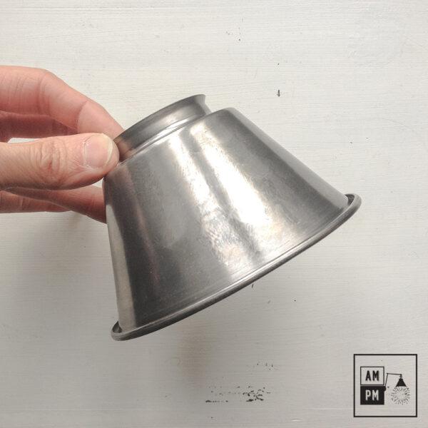 moyen-abat-jour-cône-vintage-métal-biseauté-acier