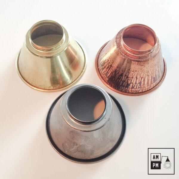 moyen-abat-jour-cône-vintage-métal-biseauté-all