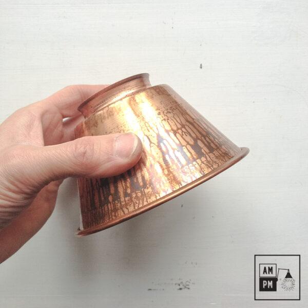 moyen-abat-jour-cône-vintage-métal-biseauté-cuivre
