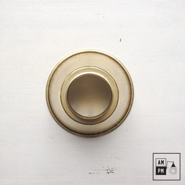 moyen-abat-jour-cône-vintage-métal-biseauté-laiton-2