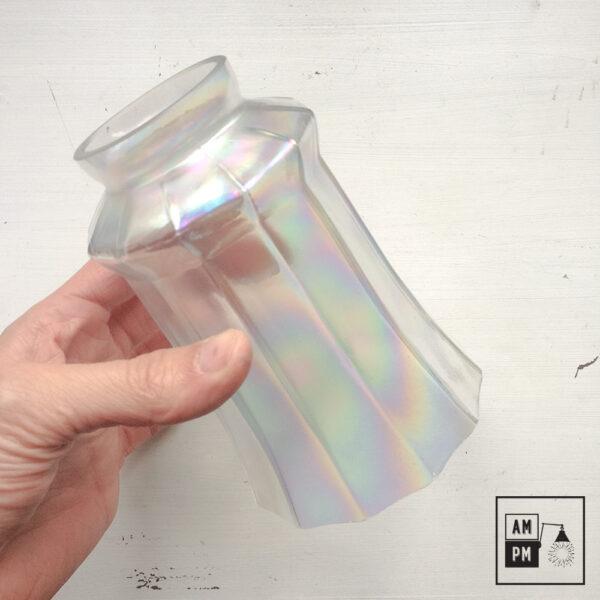 abat-jour-vintage-dodécagonal-verre-irridescent-1