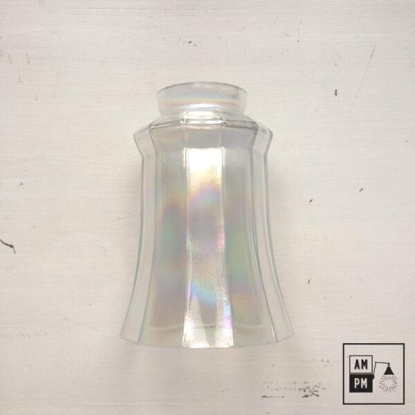 abat-jour-vintage-dodécagonal-verre-irridescent