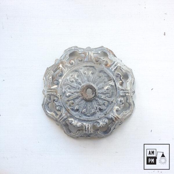base-art-deco-acier-antique-vintage