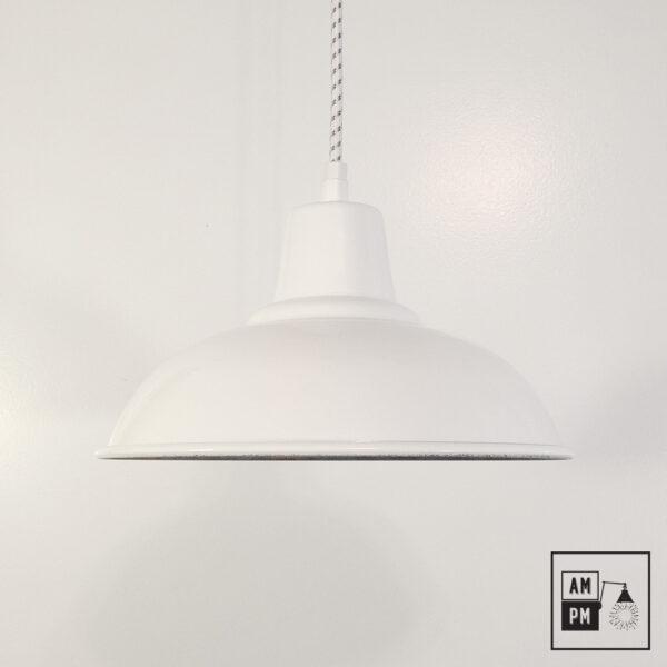 Abat-jour moderno-antique-blanc-lustre