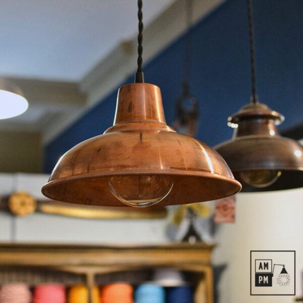 Abat-jour moderno-antique-cuivre