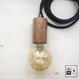 lampe-suspendue-minimaliste-bois-noyer-noir-A3S07-2