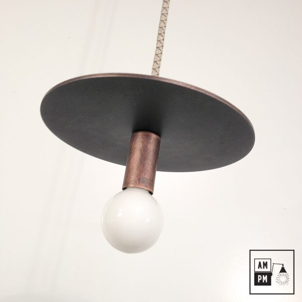Lampe-suspendue-minimaliste-moderne-avec-disque-plat-cuivre-brosse-A3S50-1