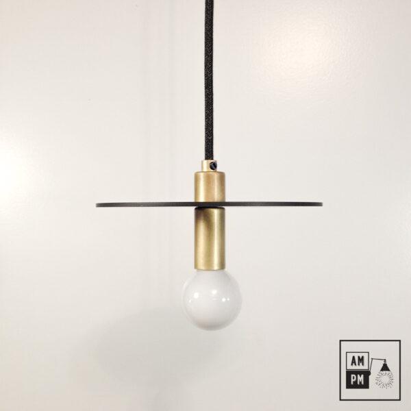 Lampe-suspendue-minimaliste-moderne-avec-disque-plat-noire-laiton-brosse-A3S50
