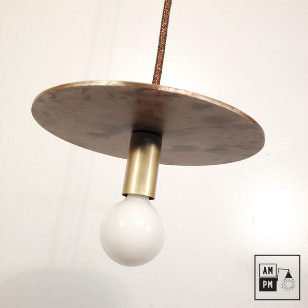 Lampe-suspendue-minimaliste-moderne-avec-disque-plat-tempete-laiton-brosse-A3S50-1
