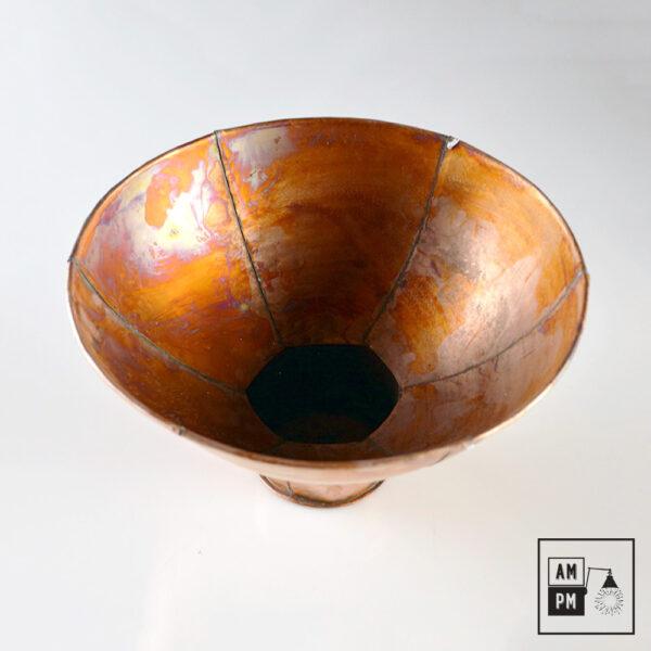 Abat-jour-rustique-naïf-hexagonal-cuivre-antique-2