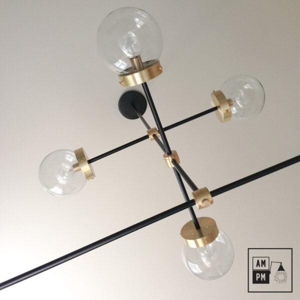 luminaire-plafonnier-moderne-sur-tiges-globes-kriss-kross-noir-laiton-A3C20-3