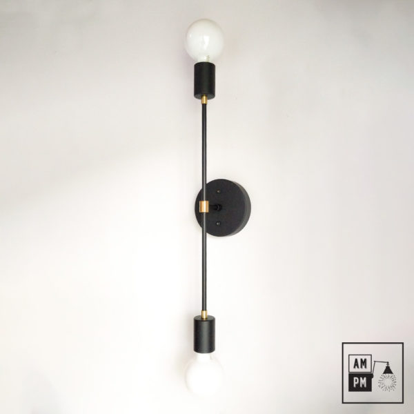 Applique-murale-minimaliste-sur-tiges-Symetrium-noir-laiton-A4M46