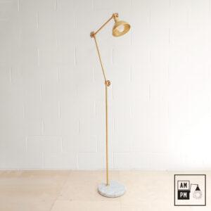 Lampe-sur-pied-marbre-laiton-A4P17