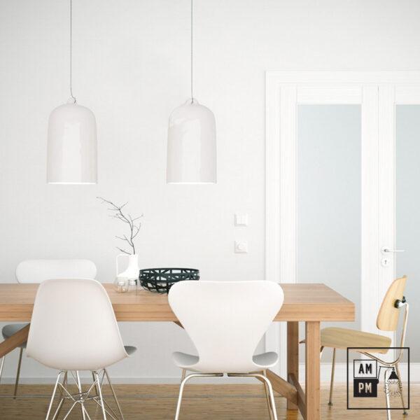 Lampe-suspendue-cloche-surdimensionnée-en-céramique