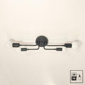 Plafonnier-SKA-collection-mid-century-Tristan-A5D070-noir-mat